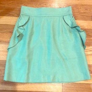 Sandro ruffle pocket skirt size 1